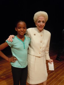 Holland Taylor finds a new friend.