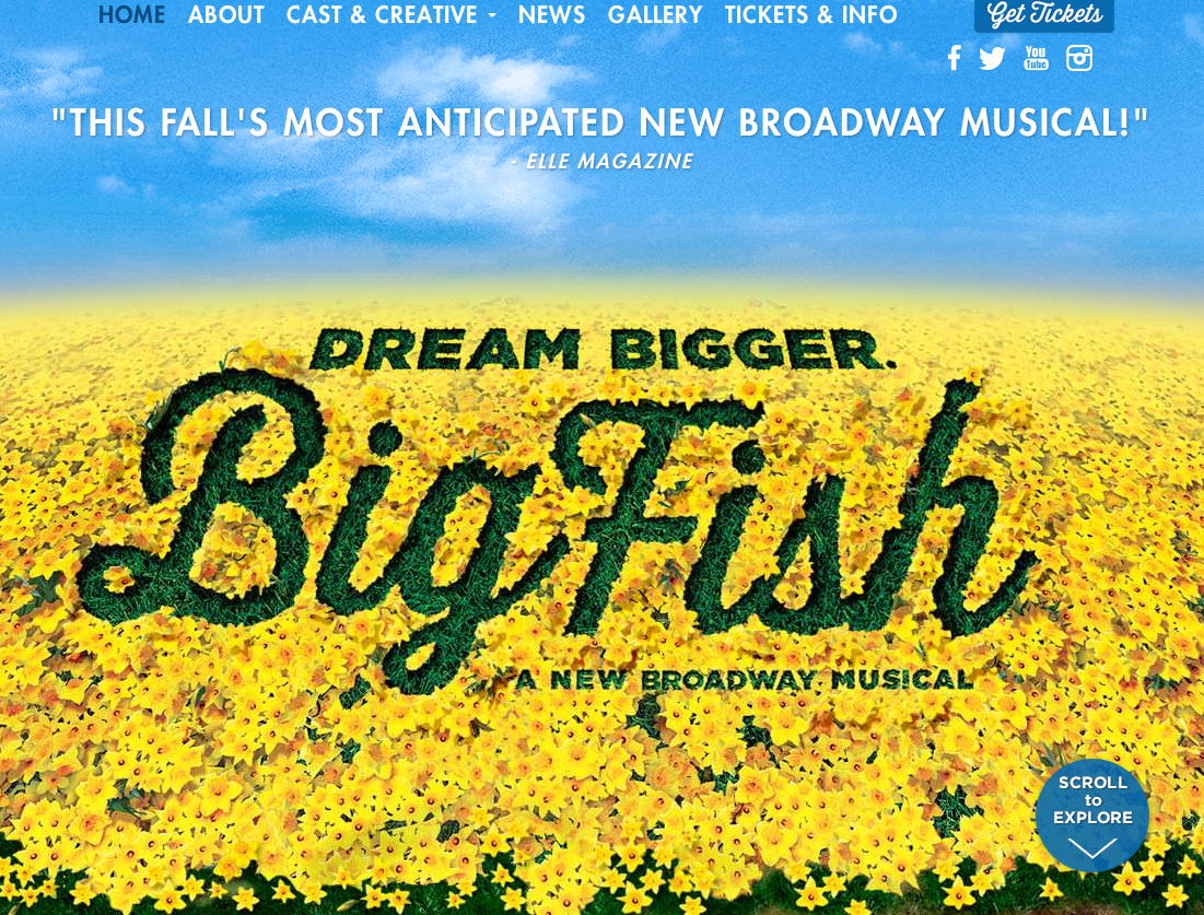 ANNIE HUGE SUCCESS SPAWNS BIG FISH TO INVITE KIDS TO BROADWAY