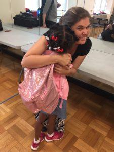 Hugging Ms. Bender